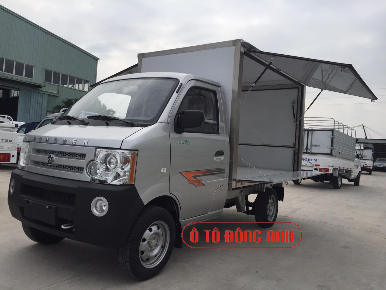 DongBen 870Kg thùng cánh dơi, Dongben 870kg bán hàng lưu động